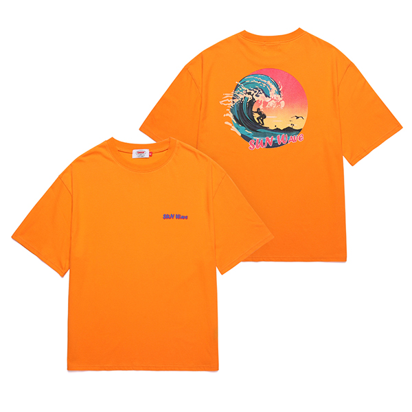 [Unionobjet] Union Sun Wave T-shirt - Orange